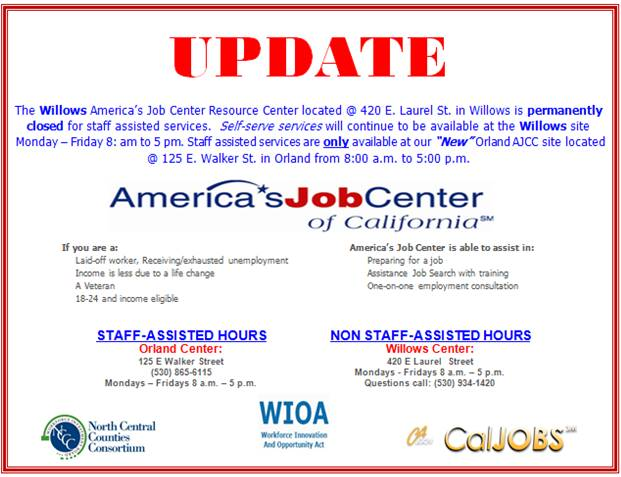 Workforce Innovation And Opportunity Act Resource Center Hours Locations