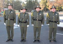 Officers at attention