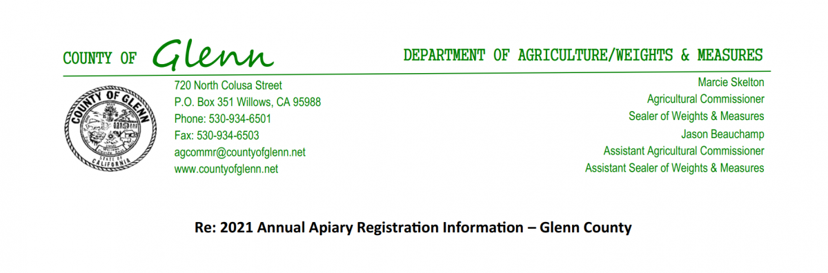 2021 Apiary Registration Notice