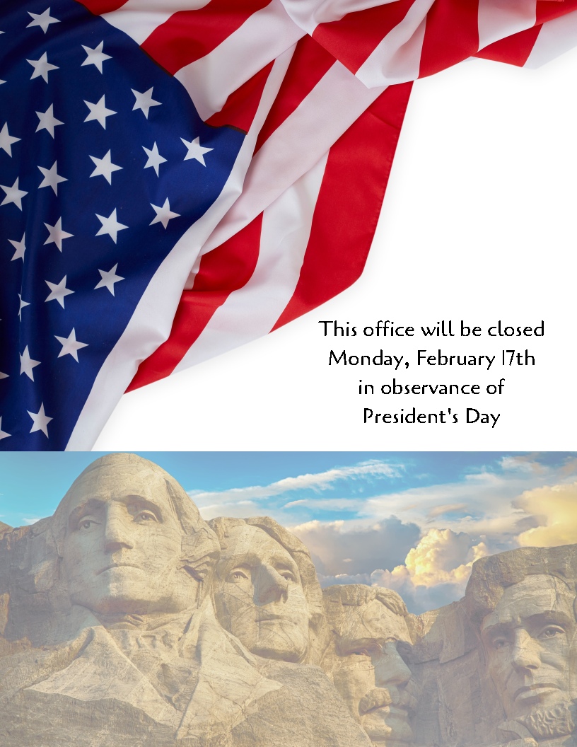 President's Day Office Closure