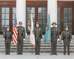 Deputy Honor Guard with flags 2019