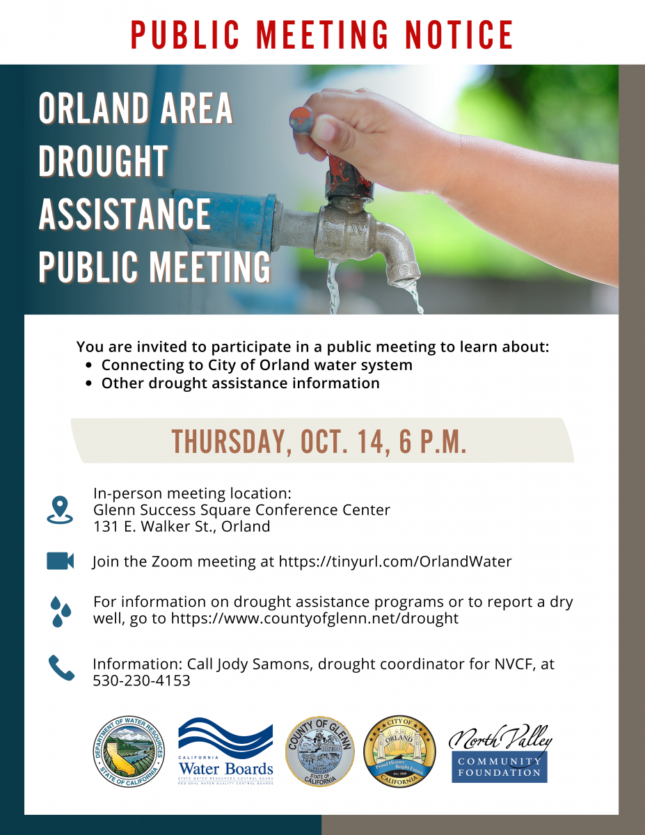 Drought meeting flyer