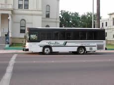 Glen Ride Bus in front of Memorial Hall