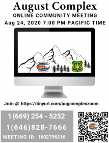 QR Code and notice of community meeting