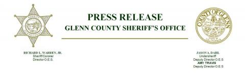 Glenn County Sheriff's Office Press Release