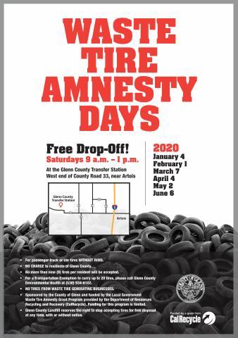 2020 Waste Tire Amnesty Flyer