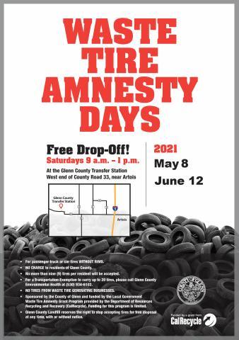 2021 Waste Tire Amnesty Flyer Image