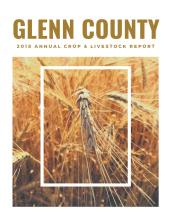 2018 Glenn County Crop Report Cover Page
