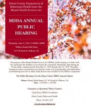MHSA Public Hearing Meeting
