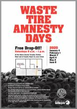 2020 Waste Tire Amnesty Flyer