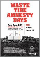 2021 Waste Tire Amnesty Flyer Image