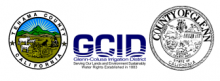 Tehama County, GCID, and Glenn County logos
